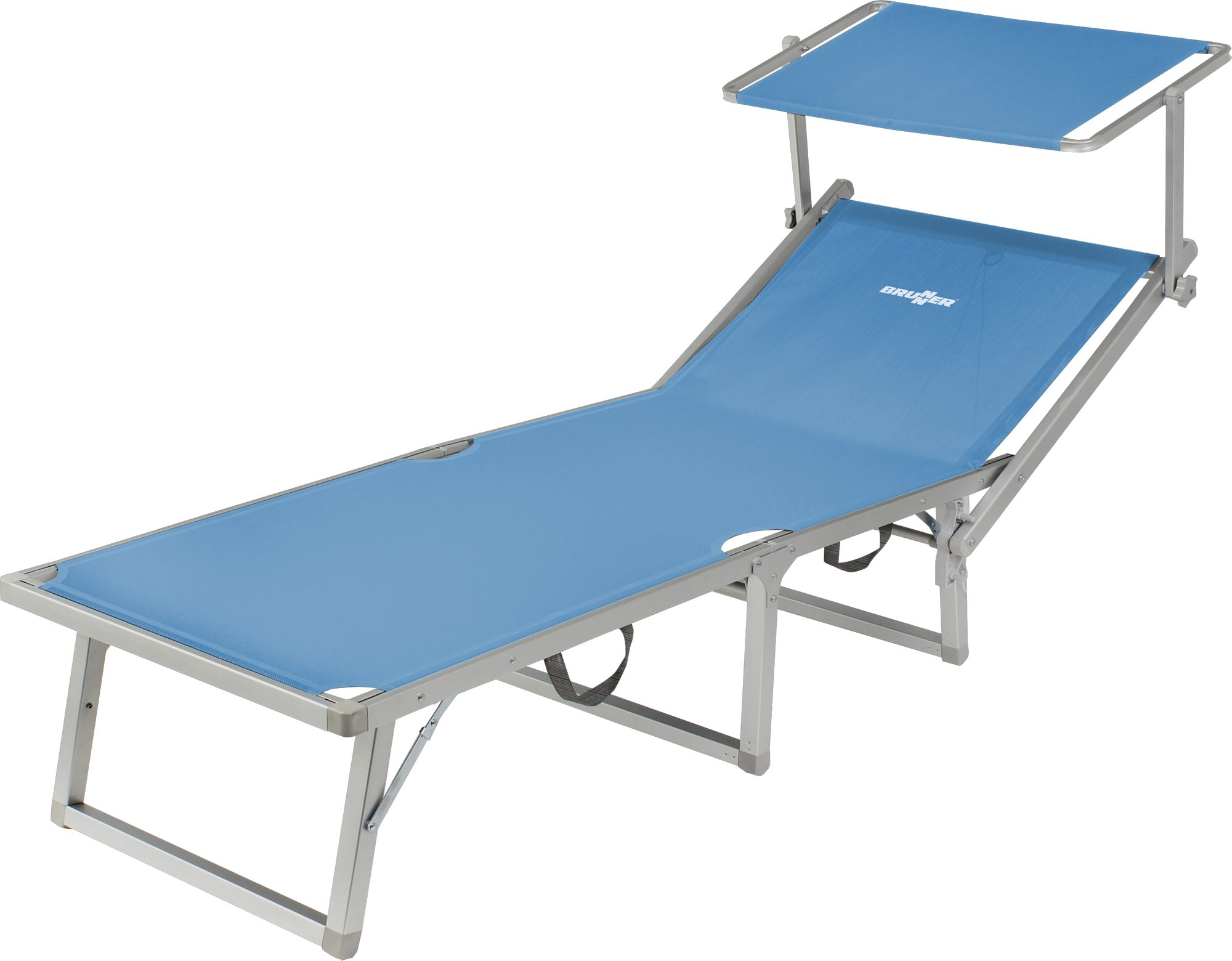 Lettino da sole Lido Fold-Up (azzurro)