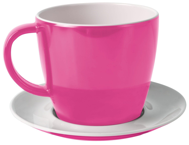 Tazza con piattino pink
