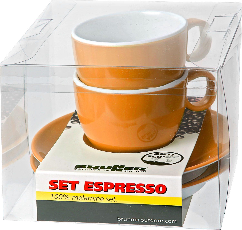Set Espresso arancione (2pz)