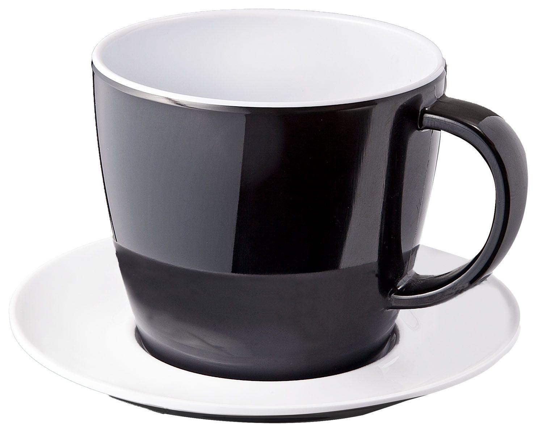 Tazza con piattino nero