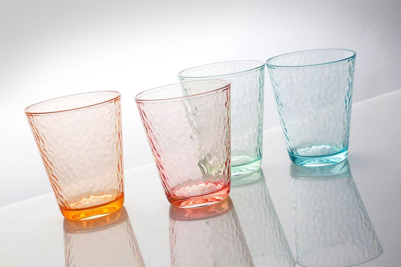 Bicchieri Vintage (4pz) (colori assortiti)