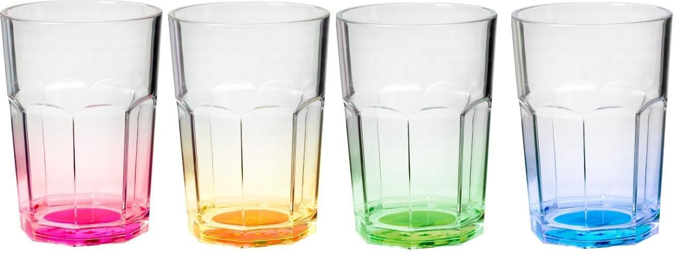 Bicchieri Octoglass Color (4pz) (colori assortiti)